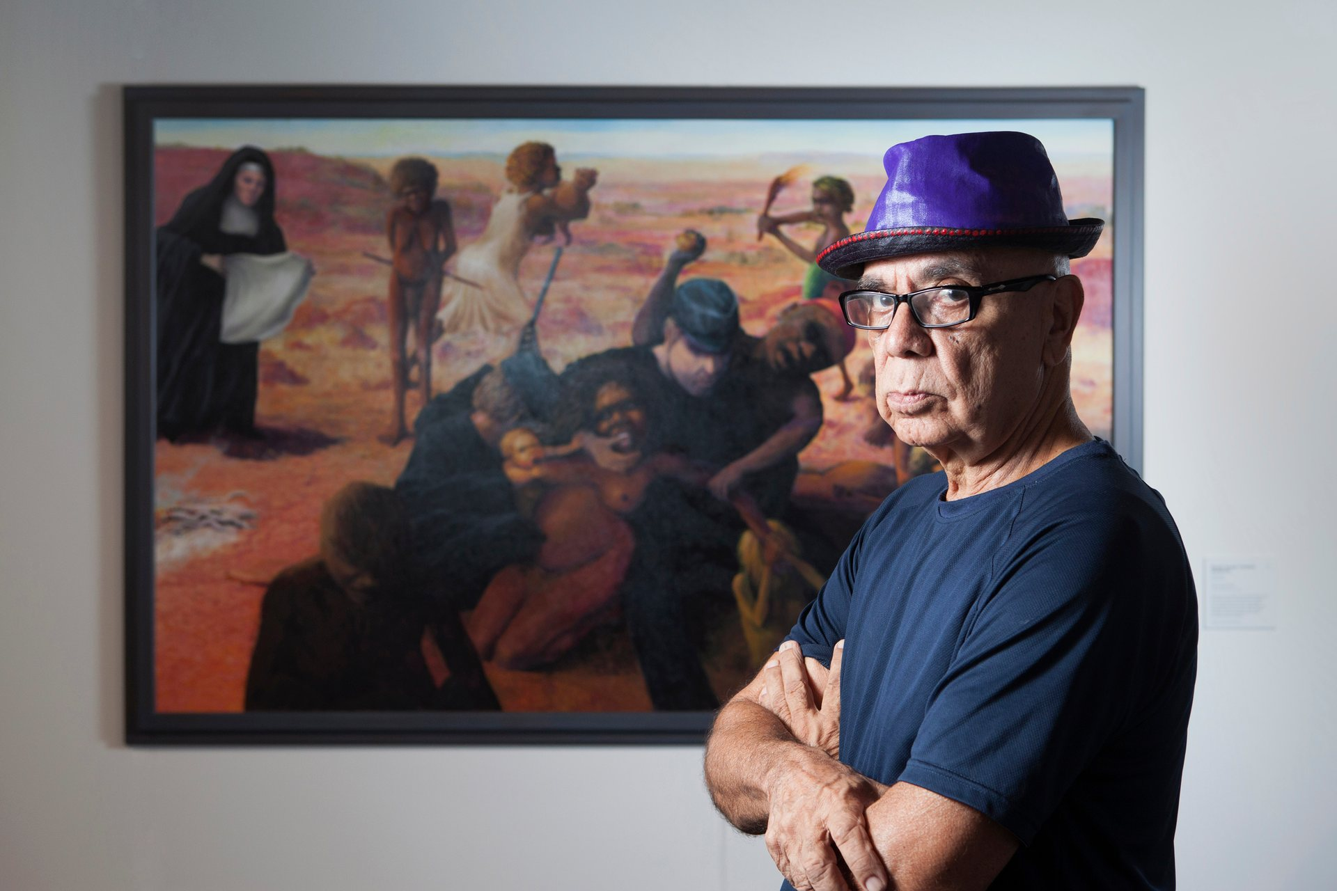Harold Joseph Thomas - winner 2016 Telstra National Aboriginal and Torres Strait Islander Art Awards