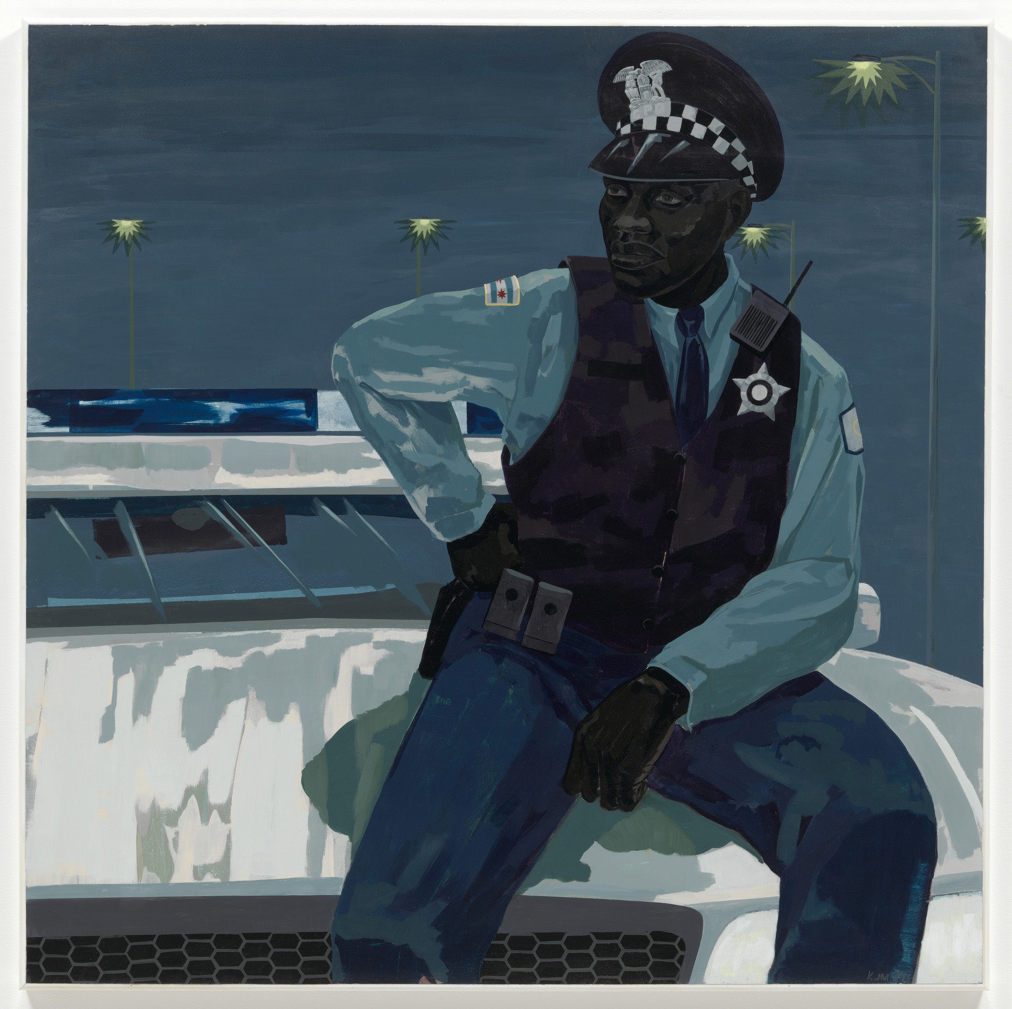 the visual elements in policeman a polymer painting by kerry james marshall In the center of kerry james marshall's imposing painting the lost boys with its biblical allusions and subtle visual nods to renaissance art like the weather that day, younge writes.