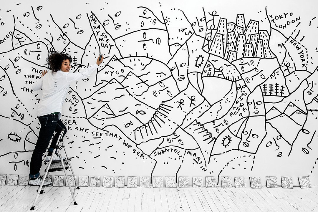 Known For Her Free Form Line Drawings Shantell Martin Is