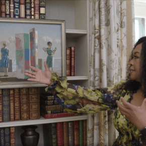 Shonda Rhimes Has Two Hughie Lee-Smith Paintings in the Study of Her L.A. Home