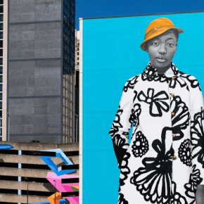 Amy Sherald Worked With Mural Arts Philadelphia on an Amazing Six-Story Portrait that Celebrates Young Black Women
