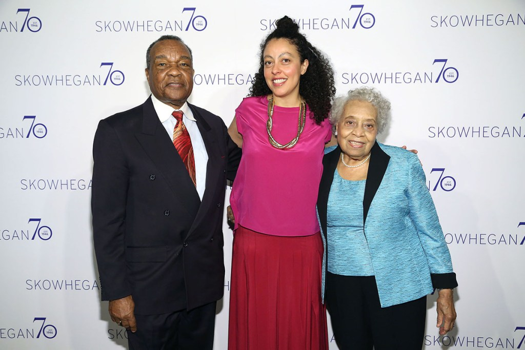 April 26, 2016: David Driskell, Sarah Workneh, co-director of Skowhegan, and Thelma Driskell at Skowhegan 70th Anniversary Celebration Awards Dinner at The Plaza in New York City. | © Patrick McMullan, Photo by Sylvain Gaboury/PMC