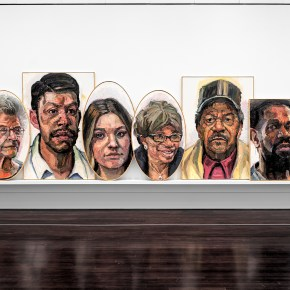 Sedrick Huckaby's New Solo Exhibition at Blanton Museum Features a Portrait of His Student, Former President George W. Bush