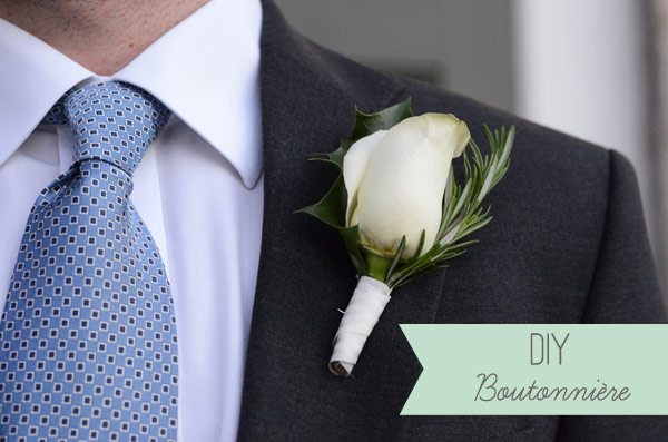 Friday: Tips & Things- How to make a boutonniere