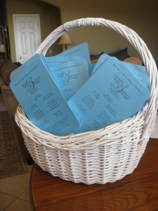 FRIDAY: DIY Wedding fan programs