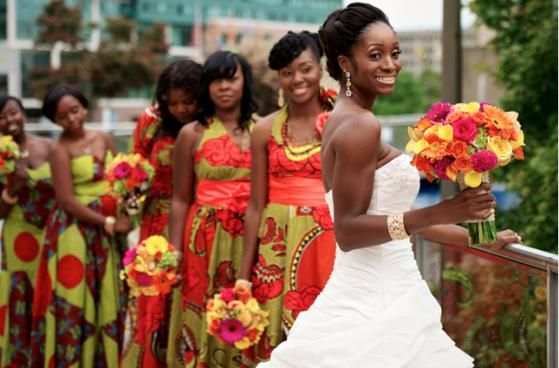 5 African Traditional Bridemaids dresses that nailed it