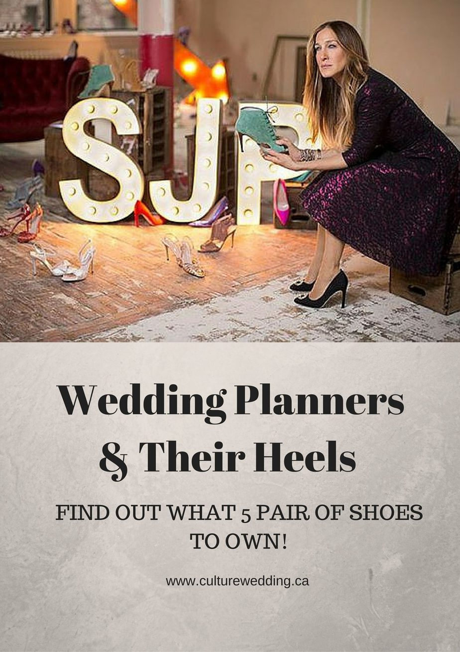 wedding planners and their shoes