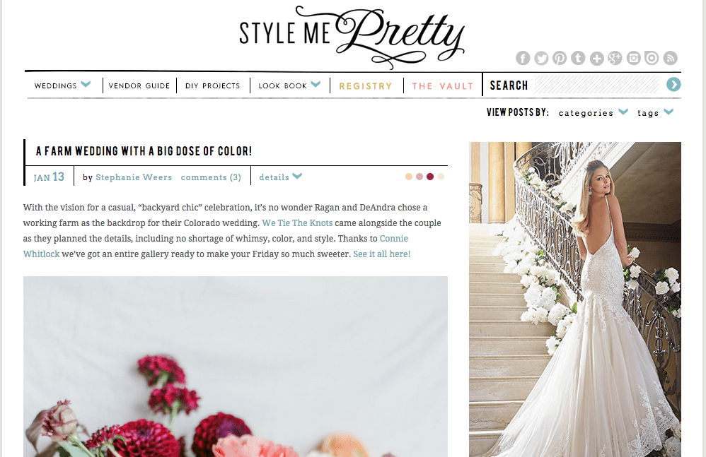 The top 10 wedding blogs to help plan your wedding culture style me pretty wedding blogs junglespirit Image collections