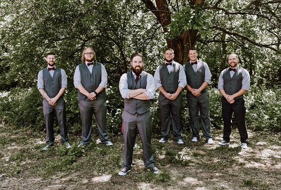Groomsmen rustic wedding