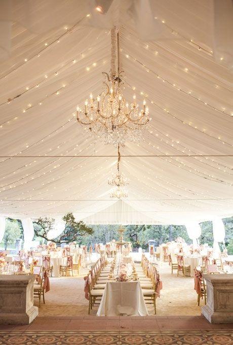 tented white wedding idea