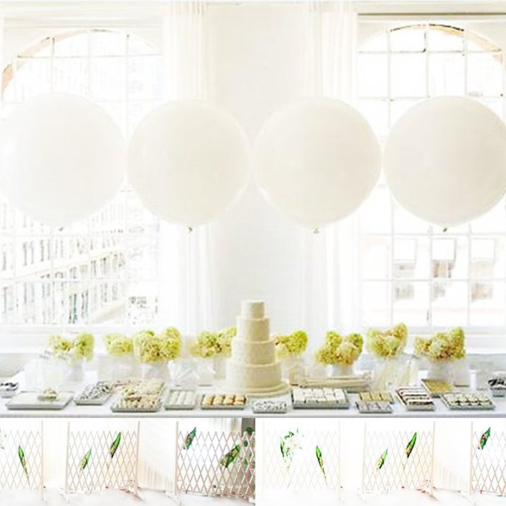 giant white wedding balloon