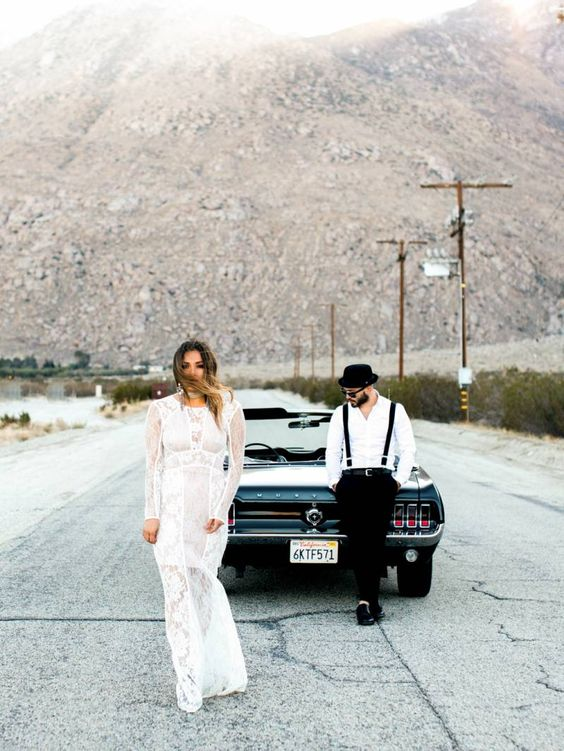 Edgy Bohemian Engagement Shoot in the California Desert. creative engagement photo ideas. outdoor engagement photo ideas. engagement photo ideas for fall. winter engagement photo ideas. engagement photo poses. summer engagement photo ideas. engagement photo prop ideas. Engagement pictures. Engagement photos what to wear.