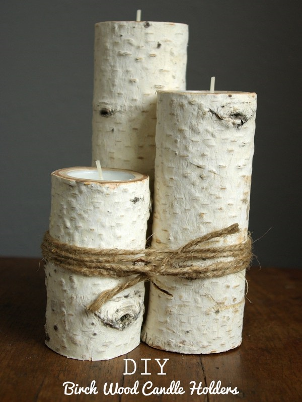 DIY Birch wood candle holder idea for a wedding. DIY Farmhouse Birch wood candle wood holder wedding centerpiece for a rustic wedding. DIY Farmhouse decor ideas for the home that can be used for inspiration to plan your wedding. DIY Rustic wedding decor ideas that you can steal from farmhouse decorations to inspire your style. Farmhouse modern decor ideas to use for your wedding inspiration #modernhomedecor #farmhousedecor #rusticwedding #decorideas