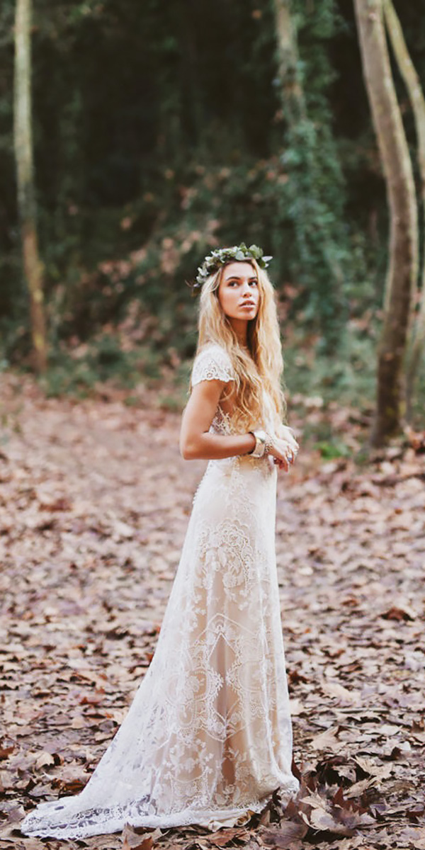 Extremely Romantic Bohemian Wedding Dresses with Style