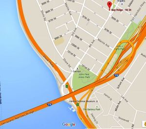 Verrazano Bridge map.