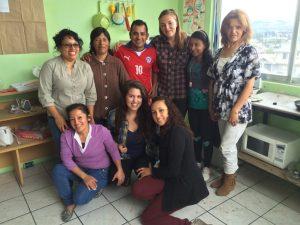 In Ecuador with locals