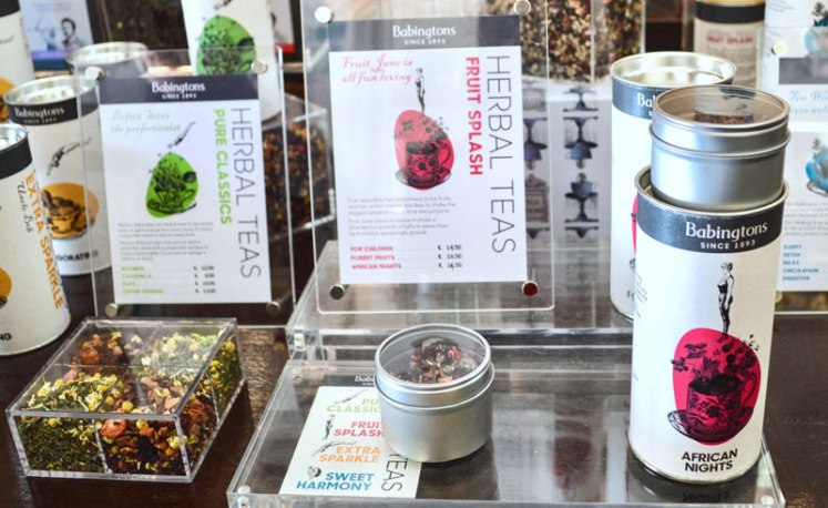 Babington's brew: tea varieties
