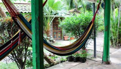 Hammocks abound at peaceful Hacienda Mérida. Image by ChangeStream Media.