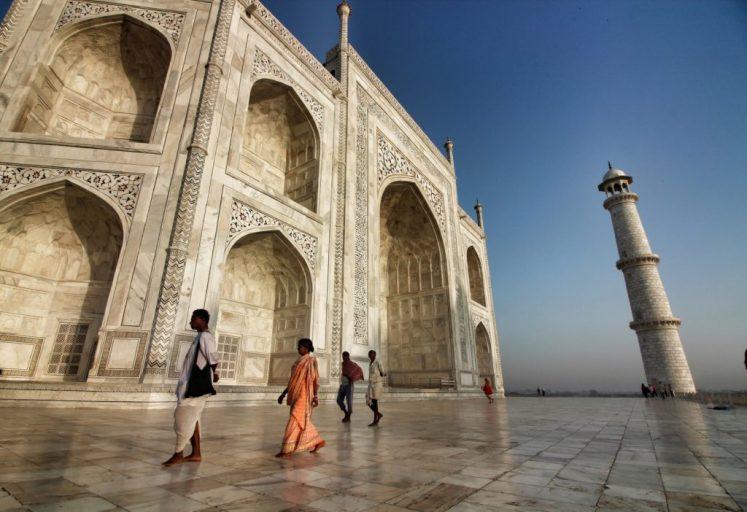 2) The breathtaking Taj Mahal just after sunrise.