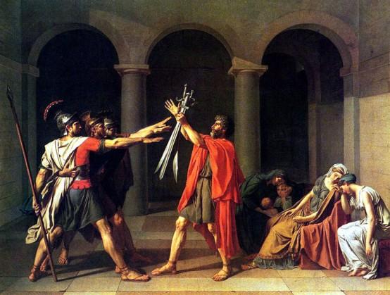 Le Serment des Horaces de David (1785)