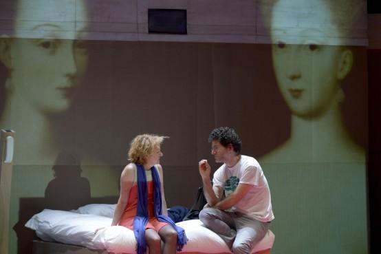 Annick Bergeron et Wajdi Mouawad lors des répétitions (c) Pascal Gely