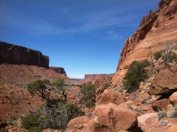 Walking in Canyonlands