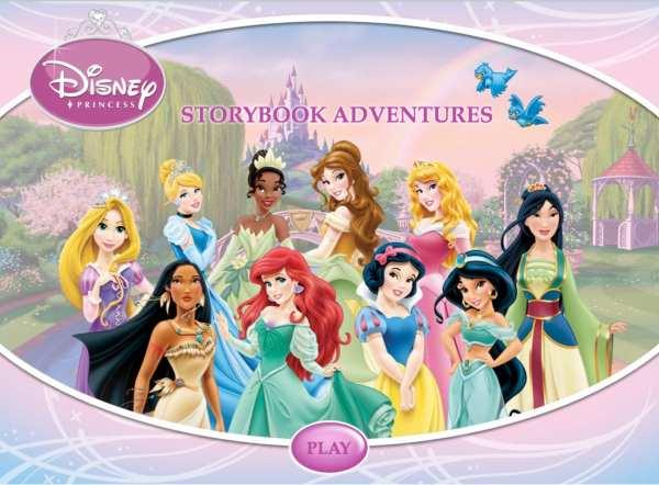 http://games.disney.com/princess-storybook-adventures