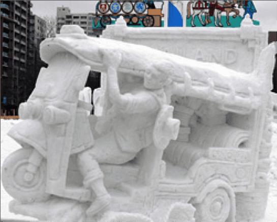 Building A Snowman: Sapporo, Japan Style