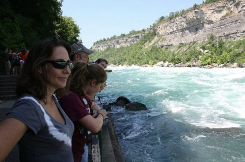 Belinda and Kenady bellow the Niagara Falls
