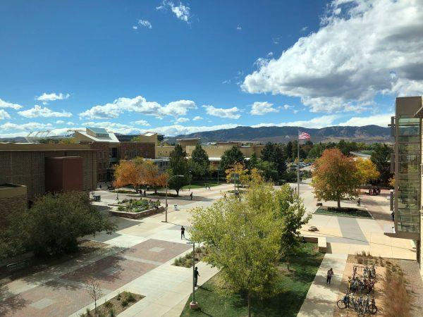 Colorado State University, campus, buildings, trees, landscape