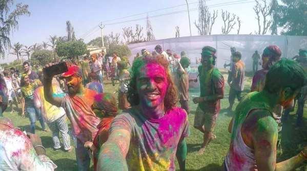 Yuujou finalist, Panos, celebrates the Holi color festival in India.
