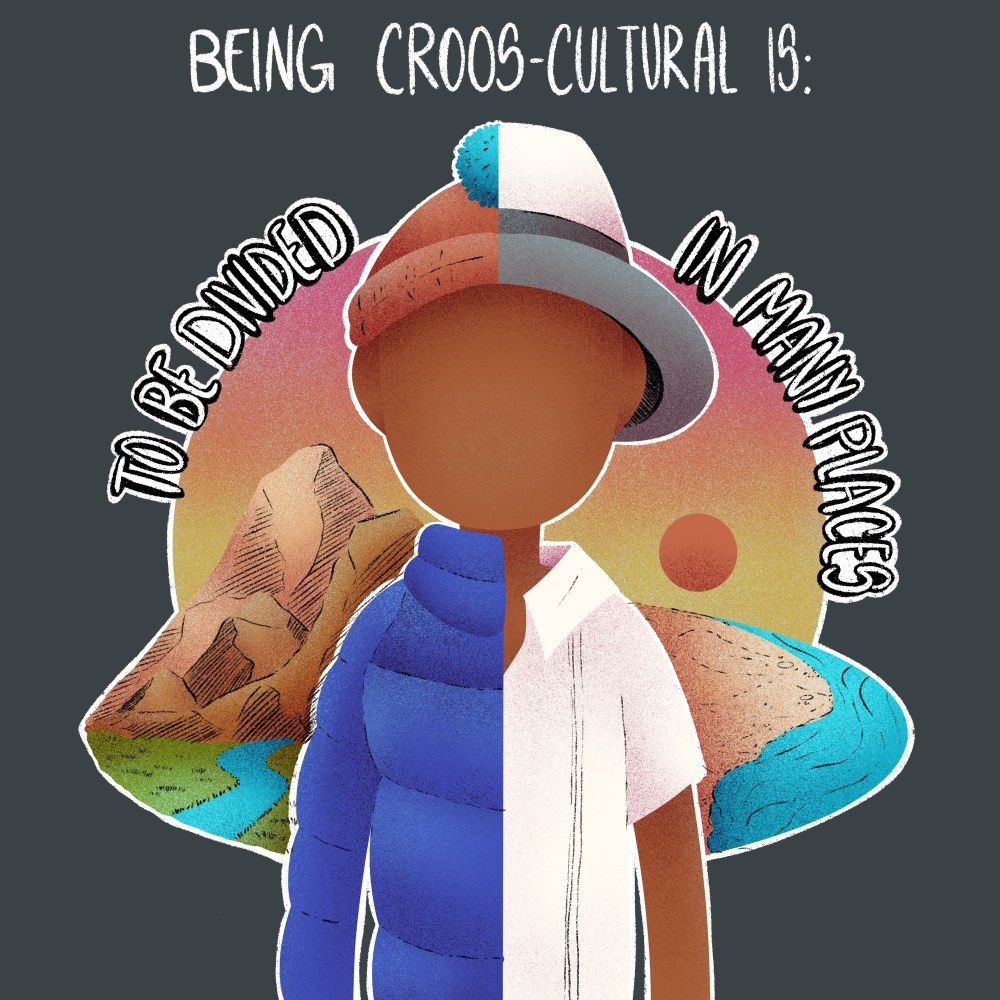 illustration series: Being Cross Cultural -- To be divided in many places