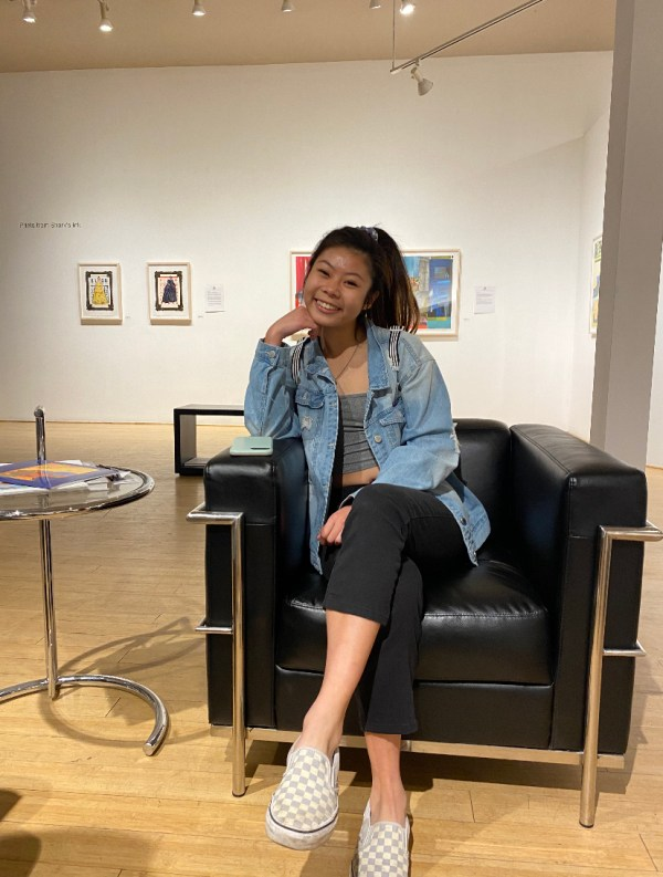 Hsin at art museum in 2019.