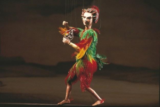 Papageno. figuur uit Mozarts Opera die Zauberflote