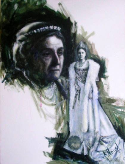 Koningin Wilhelmina, © Gustave Nouel