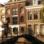 Leiden, bekend van o.a.  Museum van Oudheden, gered door postduiven