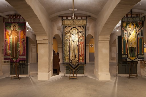 Han Bijvoet, vaandels, museum van de st Bavo