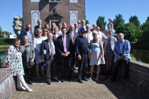 Orde van den Prince bij Hofwijck, vlnr Nicole Hermans, Marleen Toebosch, voorzitter Willem Gijssels, Peter Lasschuit, Marianne