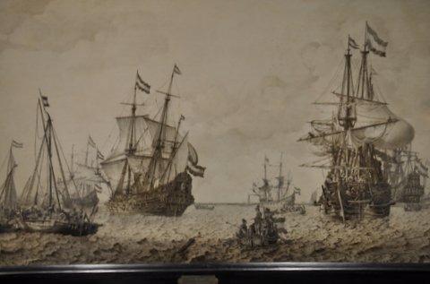 Een echte Amsterdammer, Hans Savery de Oude, de Oostindievaarder de Amsterdammer en een groot aantal oorlogsschepen, Het Scheepvaartmuseum Amsterdam