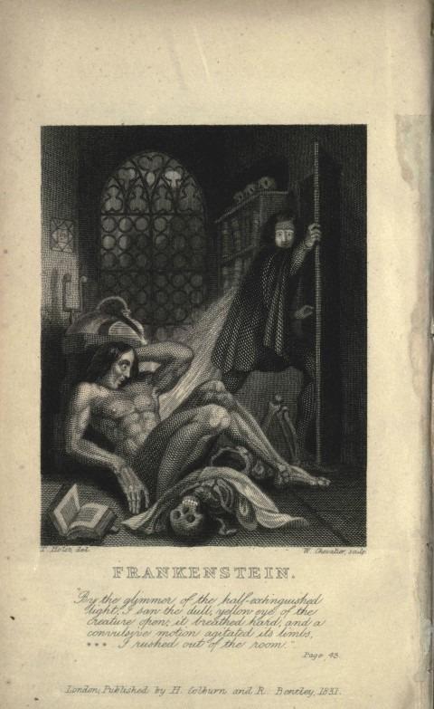 Het geheim achter het monster van Frankenstein, geschreven door Mary Wollstonecraft Shelly (1818). Het boek geldt als voorloper van science fiction.