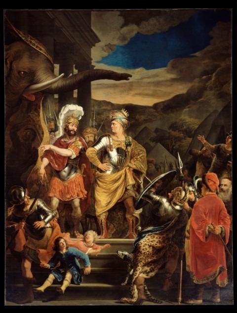 Ferdinand Bol, Gaius Fabricius Luscinus in het legerkamp van Pyrrhus 1655-'56, Doek 80 x 65 cm, Amsterdam Museum