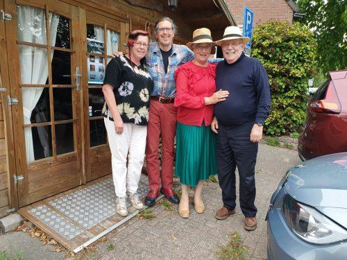 Wasschilderen, kaarsenmaakster Lammie, wasschilder Peter de Jongste, Marianne Visser van Klaarwater, Peter Lasschuit