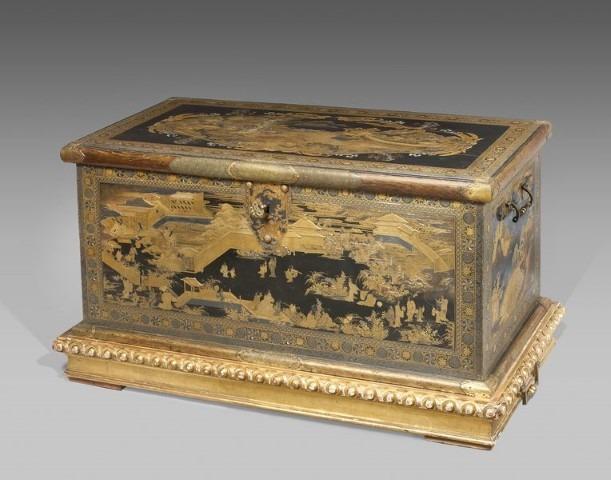 Lakkist, ca. 1635-45, Koami-werkplaats (toegeschreven aan), collectie Rijksmuseum