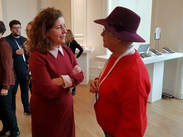 Johannes Vermeer virtueel, Marianne Visser van Klaarwater in gesprek met minister Ingrid van Engelshoven