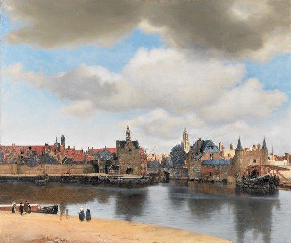 Johannes Vermeer virtueel, gezicht op Delft