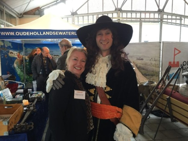 Oude Hollandse Waterlinie, oriëntatiemarktMarjolijn van der Jagt met stadhouder Willem III
