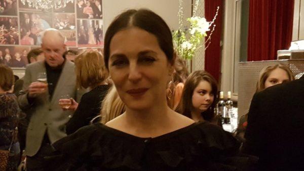 Amira Casar na de premiere in het concertgebouw op 11 februari 2020 van Symphonic Cinema 'The Echo of Being' naar muziek van Gustav Mahler.