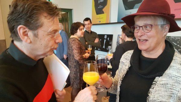 Peter Steinmann, proosten op het succes van het ''Concert om niet te vergeten''