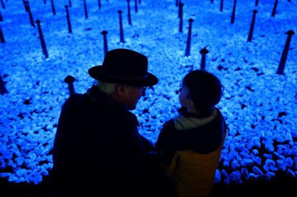 Als herdenking aan de Holocaust ontwierp Studio Roosegaarde het Levenslicht, foto Daan Roosegaarde