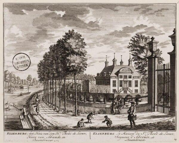Elsenburg aan de Vecht ibij Maarssen n 1719 (Amsterdams historisch archief)